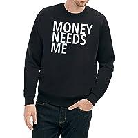 Money Needs Me Sweater Nero Certified Freak