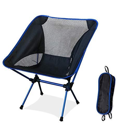 Fantic Silla de Camping Ligera Plegable con Bolsa de Transporte para Senderismo,...