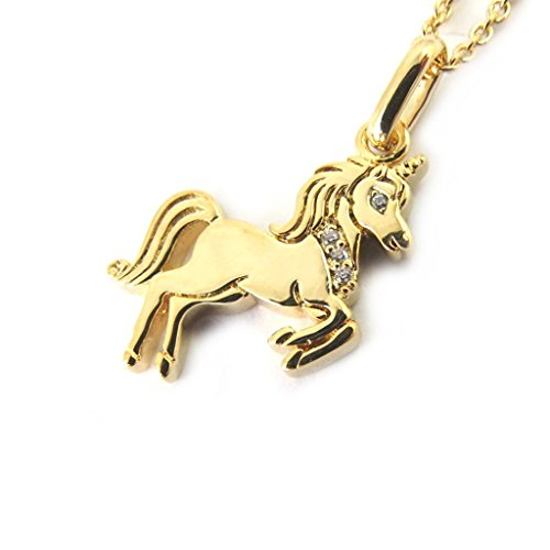 Altesse-M5934-Collier-plaqu-or-Licorne-dor
