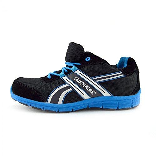Kick Footwear - Groundwork - Scarpe Unisex Adulto, Scarpe antinfortunistiche Stivali da neve uomo Nero-Blu