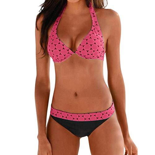 Sommer Damen Push Up Bikini Set Sexy Halter Bequem Zweiteiliger Badeanzug Mit Triangle Bikinihose Swimsuits Strand Badeanzug Badebekleidung Bademode Tankinis TWBB 2019