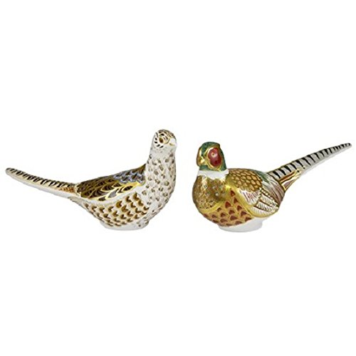 royal-crown-derby-limited-edition-pheasant-cock-hen-paperweights