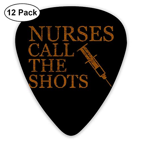 Nurses Call The Shots 351 Shape Classic Picks 12 Pack For Electric Guitar Acoustic Mandolin Bass Shot Bag