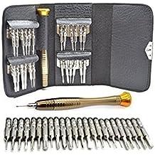 MMOBIEL Kit de Herramientas Profesionales 25 en 1 que incluye: destornilladores tipo Pentalobe, Torx, Phillips, para reparar teléfonos inteligentes tablets iPad etc