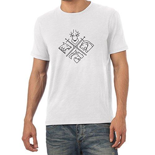 NERDO - GoT Houses Logo - Herren T-Shirt Weiß