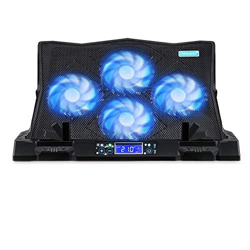 """FENGT Laptop-KüHlkissen 12""""-19"""" Ultra-Leiser Gaming-Laptop-KüHlerhalter Mit Einstellbarer LüFtergeschwindigkeit Und LCD-Temperaturanzeige,1"""