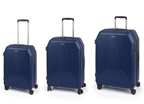 Valise Gabol Nerve, 76 cm, 182 litres, Pack 3, Bleu