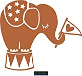CLICKANDPRINT Aufkleber » Babyelefant, 40x34,7cm, Haselnussbraun • Wandtattoo / Wandaufkleber / Wandsticker / Wanddeko / Vinyl