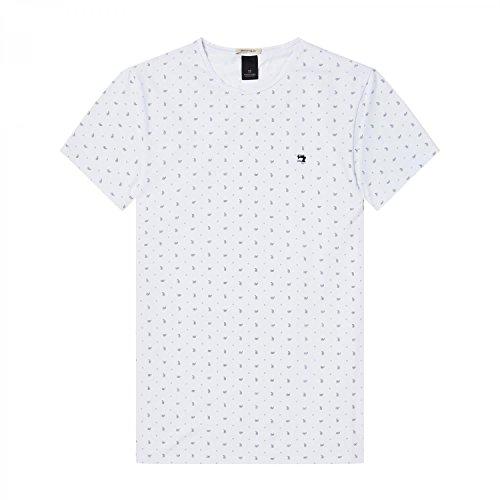 Scotch & Soda Herren T-Shirt Classic Crewneck Jersey Tee Combo I