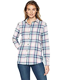 Amazon Essentials Camisa de Franela Tartán de Manga Larga Mujer