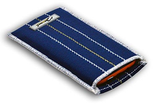 Norrun Handytasche / Handyhülle # Modell Kunni # ersetzt die Handy-Tasche von Hersteller / Modell Samsung SGH-S500i # maßgeschneidert # mit einseitig eingenähtem Strahlenschutz gegen Elektro-Smog # Reinigungseinlage # Made in Germany