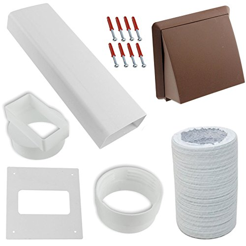spares2go-exterior-wall-venting-kit-extension-hose-for-hotpoint-tumble-dryers-brown-4-102mm