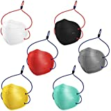 Swadesi Stuff Head Loop N95 (Pack of 6) Multi Color Washable and Reusable CE, ISO, FDA & WHO-GMP Certified Anti-Pollution Dust Mask with Five Protective Layers
