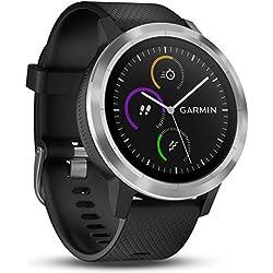 Garmin vívoactive 3 GPS-Fitness-Smartwatch - vorinstallierte Sport-Apps, kontaktloses Bezahlen mit Garmin Pay, Schwarz-Silber Garmin
