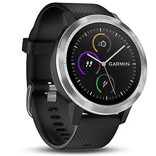 Garmin vívoactive 3 GPS-Fitness-Smartwatch - vorinstallierte Sport-Apps, kontaktloses Bezahlen mit Garmin Pay, Schwarz-Silber (B0751GBCKN) | Amazon Products