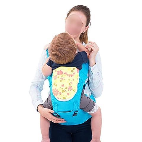 ANHPI Babytrage Hüftsitz Ergonomische Taille Baumwolle Atmungsaktives Mesh-Rücken Abnehmbar Kopfstütze Stretchy Komfort Safe,Blue