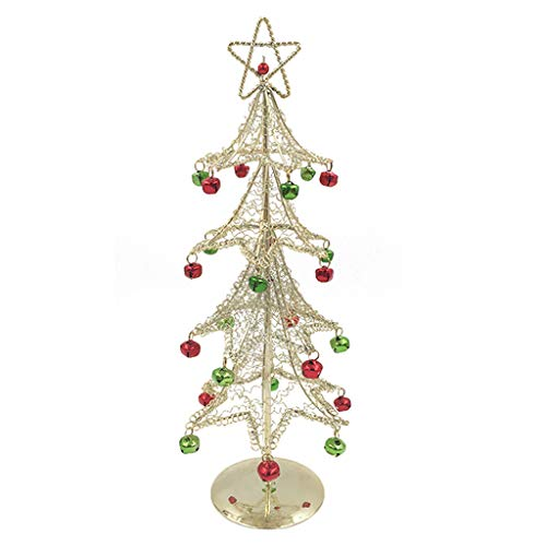 XIANCAIYUE Metal Christmas Tree with Bells for Tabletop Traditional Christmas Decorations -
