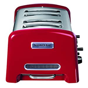 Kitchenaid 5KTT890EER Grille-Pain Artisan 4 Tranches Inox Rouge