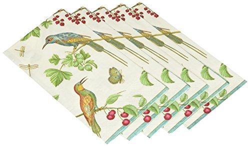 pari Gästehandtuch Birds Papier (15Pack), elfenbeinfarben ()