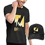 SOTTK Kurzarmshirt Herren, Rainbow Six Siege Men's Comfortable T Shirt and Caps Combination Black