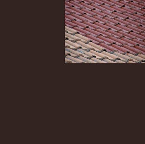 1L Ziegelfarbe Dachfarbe Dachbeschichtung Dachversiegelung in Schokoladenbraun Dachrenovierung Metalldach Blechdach Flachdach Farbe Beschichtung Anstrich Ziegel Dach
