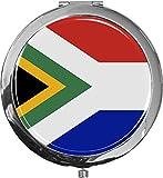 metALUm Taschenspiegel FLAGGE SÜDAFRIKA mit 2 - facher Vergrößerung #77176B