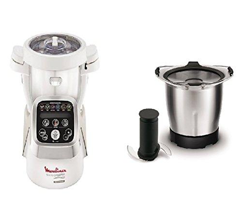Moulinex HF802AA1 Cuisine Companion Robot da Cucina Multifunzione con 6 Programmi Automatici + XF387E Acc Companion Mini Bol Baby Food Mini Ciotola