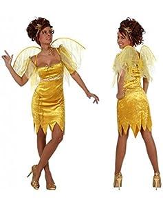 Atosa- Disfraz hada, Color amarillo, M-L (10186)