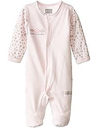 Kushies Baby-Girls Newborn Front Snap Sleeper Pink Solid