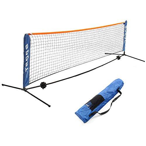 BENPAO Tragbares Badminton-Netz-Set - Netz für Tennis, Fußball, Volleyball für Kinder - Leichtes Aufstellen des Sportnetzes mit Stangen - für Innen- oder Außenplätze, Strand -