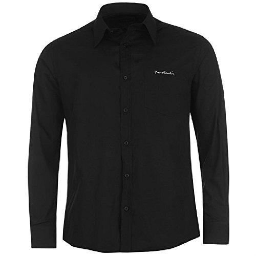 chemise-pierre-cardin-unie-l-noir