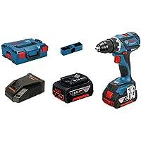 Bosch Professional Perceuse-Visseuse sans-Fil GSR 18V-EC (2 Batteries de 4,0 Ah, Chargeur Rapide, L-BOXX, 18 V, Couple Maxi : 60 Nm, Ø de Vissage Maxi : 10 Mm)