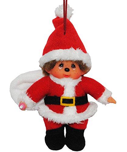 Anhänger / Schlüsselanhänger Monchhichi als Weihnachtsmann Monchichi Santa Claus Nikolaus (Kostüm Monchichi)