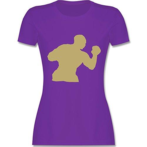 Kampfsport - Boxen - tailliertes Premium T-Shirt mit Rundhalsausschnitt für Damen Lila
