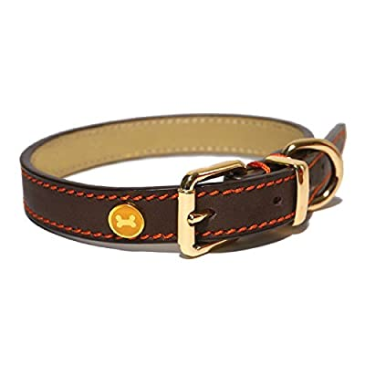 Rosewood Luxury Leather Dog Collar, Brown from Rosewood