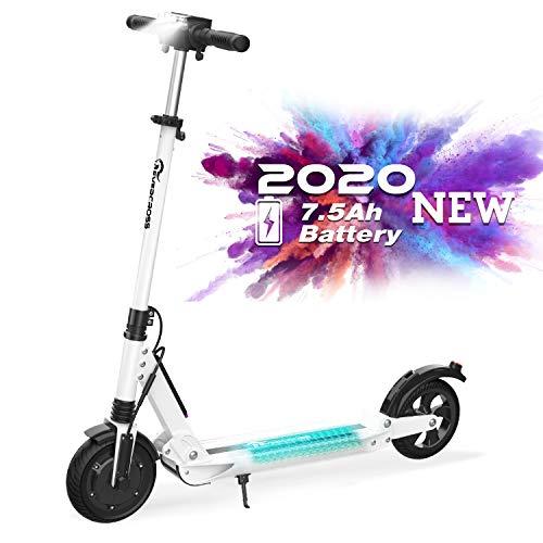 RCB Patinete Eléctrico E Scooter Plegable, Ultraligero para Adultos y Adolescentes Potente Motor, Velocidad Máx 30 km/h, 350 Vatios, Altura...