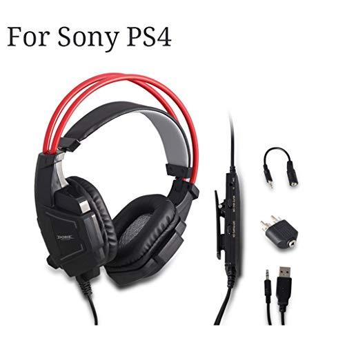 jieGREAT ❤❃ Räumungsverkauf❤❃ ,Spielkopfkopfsatz 3,5mm Over-Ear Kopfhörer-Mikrofon für Sony Playststion PS4 (Duty Call Headset Of Wireless)