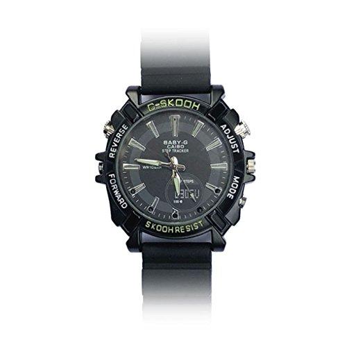 (Minzhi V2 Wireless WiFi-Uhr-Mann-Jungen-Nachtsicht-Handgelenk-Uhr-1080P Smart Watch Motion Detection)