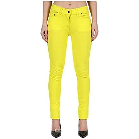 FASHIONCHIC Women Ladies Plain Stretchy Slim Fit Skinny Curvy Formal Coloured Zip Up Jeggings Trousers Plus Size 8-26 ** 18 Colors available **