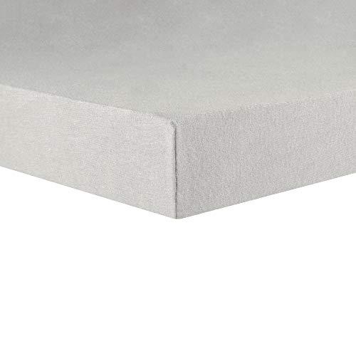 CelinaTex Lucina Topper Spannbettlaken 180x200-200x200 Silber grau Baumwolle Spannbetttuch