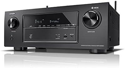 Denon avrx2400h 7.2Receptor surround AV y HEOS integración (Dolby Vision Compatibilidad, Dolby Atmos, dtsx, WiFi, Bluetooth, Spotify Connect, 4K/60Hz 8entradas de HDMI, 7x 150W) Negro