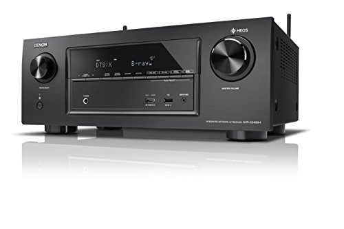 Denon AVRX2400H 7.2 Surround AV-Receiver und HEOS Integration (Dolby Vision Kompatibilität, Dolby Atmos, dtsX, WLAN, Bluetooth, Amazon Music, Spotify Connect, 4K/60Hz 8 HDMI Eingänge, 7x 150 W) schwarz