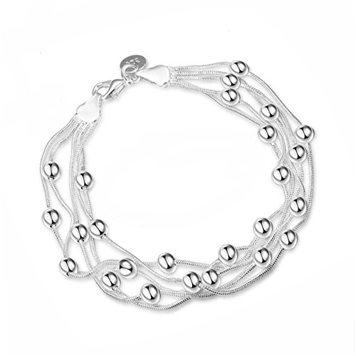 Price comparison product image Audbrave Love Charm Bracelet, Fashion Sliver Plated Bangle Bracelet for Women Teen Girls Birthday Gifts