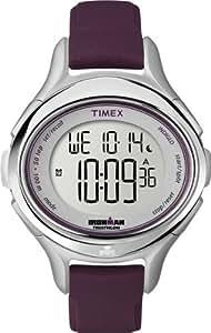 Timex T5K498SU Timex Ironman 50 Lap Ladies Watch Quartz Digital Multicolour Dial Purple Resin Strap