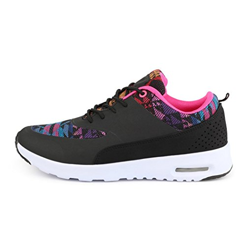 best-boots , Low-top femme Black/Flower