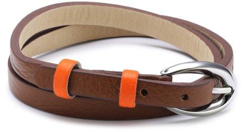 Esprit Damen Armband Edelstahl Leder 38 cm braun ESBR11336A380