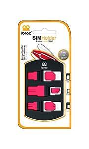 IBROZ - Etui Housse de Rangement pour Cartes SIM + Adaptateurs de Nano SIM à Micro, de Nano SIM à Standard SIM et de Micro SIM à Standard SIM - convertisseurs pour iPhone 5 - 4s - 4 - iPad 4 - 3 - 2 - mini + +