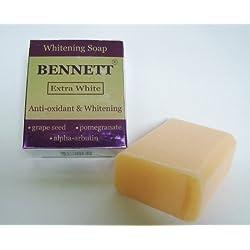 BENNETT EXTRA WHITE Anti-Oxidant Alpha Arbutin Extreme Whitening Soap 130g/4.6oz by Bennett