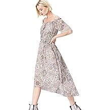FIND Vestido de Flores con Encaje para Mujer
