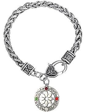Vintage slawischen alatyr (12Sternzeichen Gravur Charms Weizen Armband Herren Frauen Schmuck